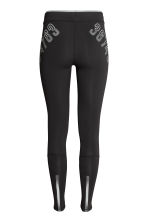 Compression fit running tights - Black - Ladies | H&M 3
